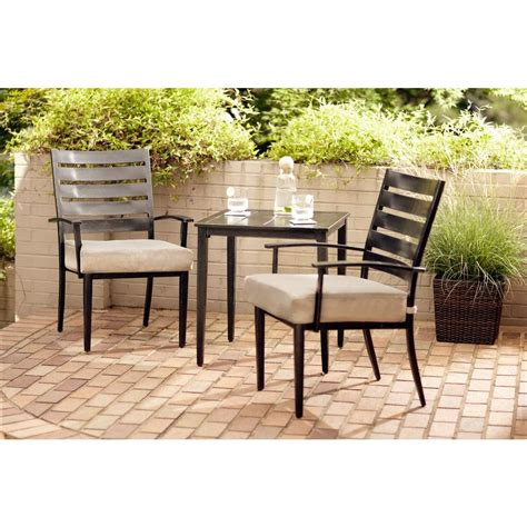 hton house furniture patio bistro set with cushions 2 seat cushion swivel