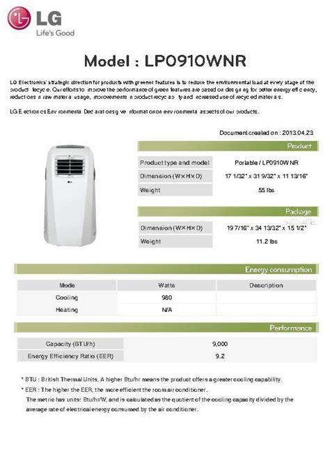 Ac Portable Lg Lp0910wnr lg electronics lp0910wnr 9 000 btu portable air