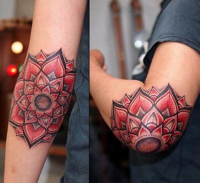 Lotus Tattoo Elbow | elbow tattoo images designs