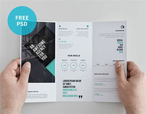 double sided tri fold brochure template 22 free psd