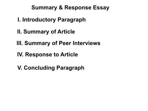 summary and response essay sles summary response essay sles 28 images response essay