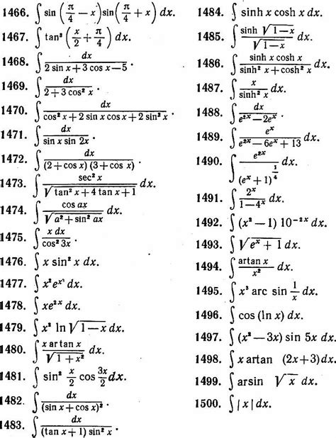 Trig Integral Table by Indefinite Integral Using Family Feud