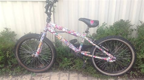 Fahrrad Sticker Bomb by Sticker Bomb My Neice Bike