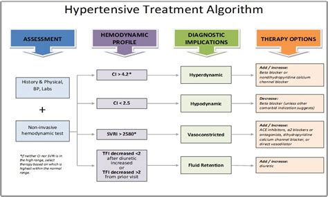 Hypertension Treatment Algorithm | hypertension osypka medical cardiotronic