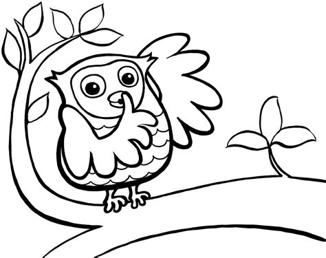 cute baby owl coloring pages coloring home