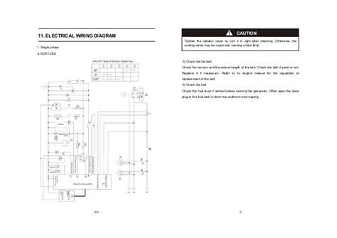 wiring diagram standard genset krisbow wiring
