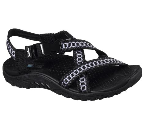 sketchers sandals skechers juniors reggae kooky black sport sandal