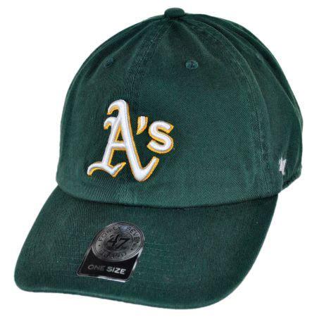 47 brand oakland athletics mlb clean up strapback baseball