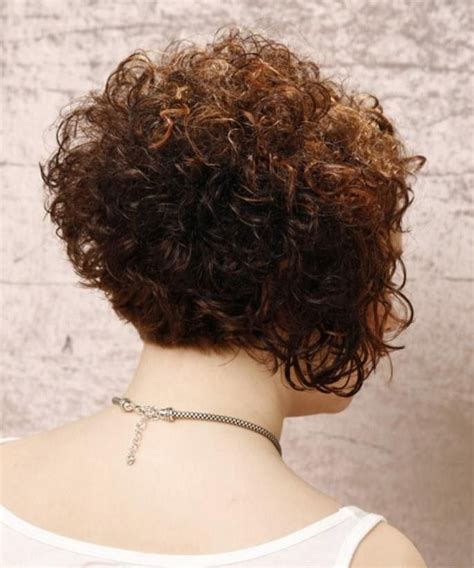 short stacked curly bob hairstyles haircuts gallery