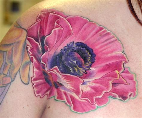 poppy tattoo about lady