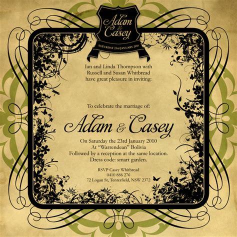 invitation design by morgan vintage garden wedding invitations on behance