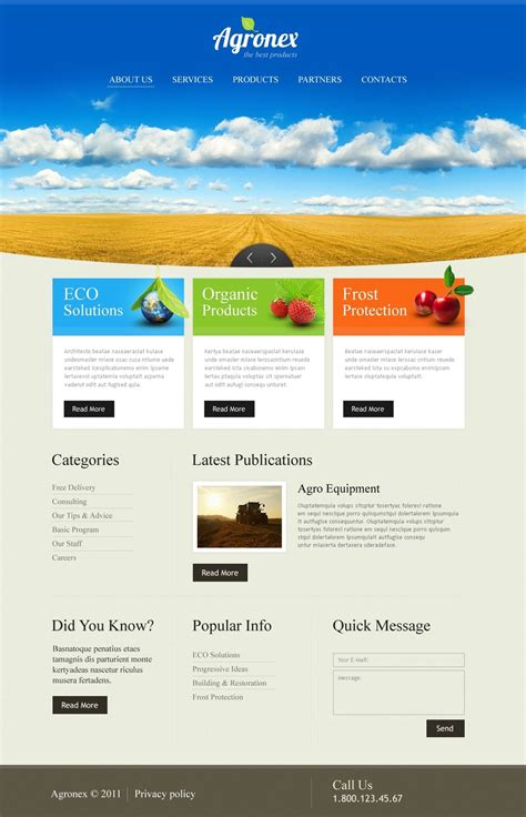 Organic Products Website Template Web Design Templates Website Templates Download Organic Supplement Website Template