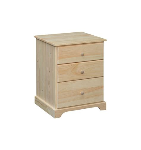 22 Inch Wide Chest Of Drawers 22 Inch Jakob 3 Drawer Nightstand Wood You Furniture