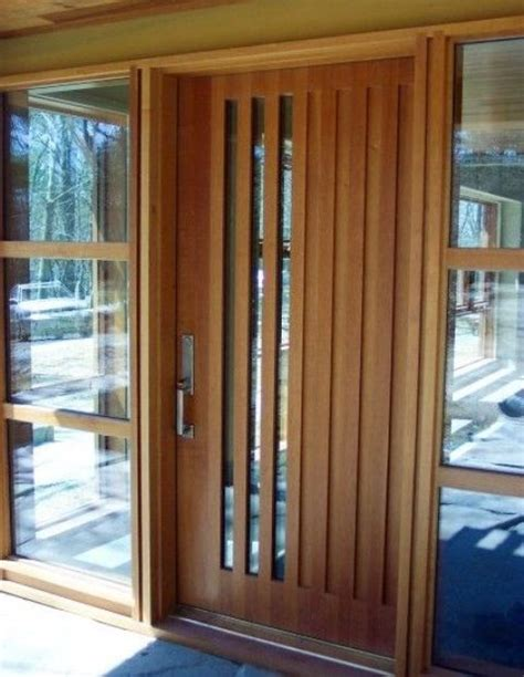 Wood Front Doors With Glass 24 Wooden Front Door Designs To Get Inspired Shelterness