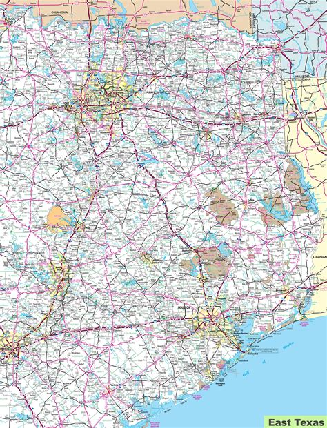 map of eastern texas east texas map my