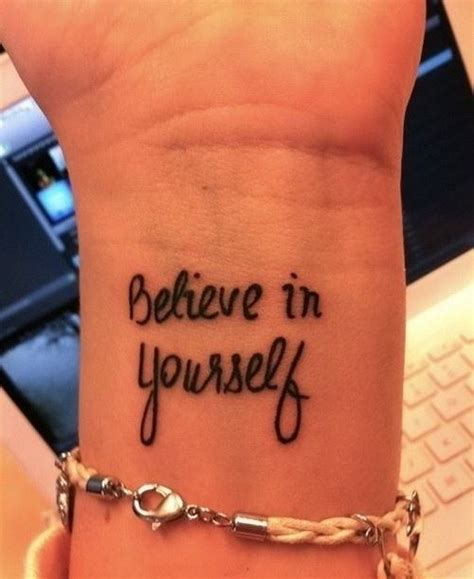 tattoo quotes believe in yourself great believe in yourself quote tattoo on arm
