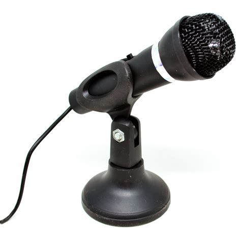 High Quality Microphone 35mm With Mic Holder Black Ausk0ebk mikrofon high quality 3 5mm dengan stand black jakartanotebook