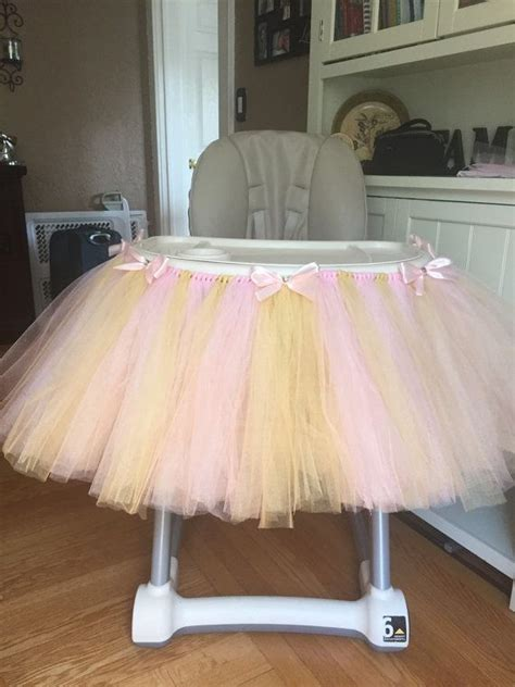 How To Make High Chair Tutu by Pink And Gold Highchair Tutu Pink High Chair Tutu Pink