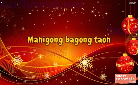 happy new year tagalog happy new year in