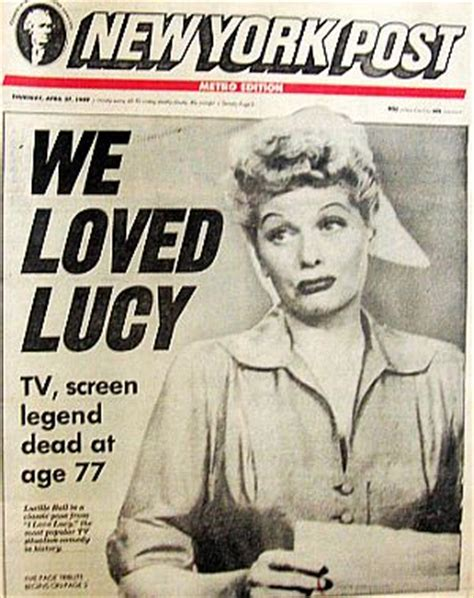 lucille ball s death certificate cause of death was acute cbs loved lucy 1950s 1970s the pop history dig