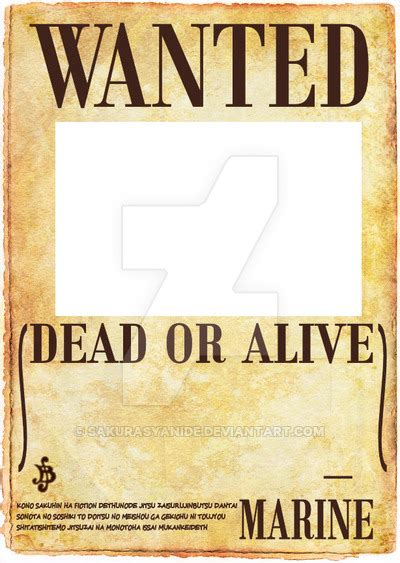 membuat poster wanted one piece one piece wanted poster by sakurasyanide on deviantart