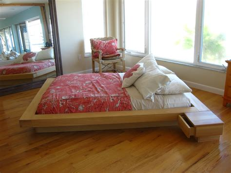 Beds Without Frames Wood Pallet Bed Frame With Drawers Also White Cusion Mattress F On Hardwood Floor Diy Ideas Plus