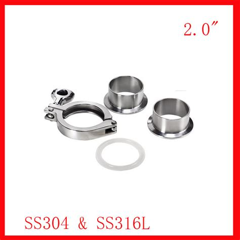 Watermur Union Ss304 2 2 0 quot stainless steel 51mm sanitary ss304 ss316l pipe fittings connection tri cl union