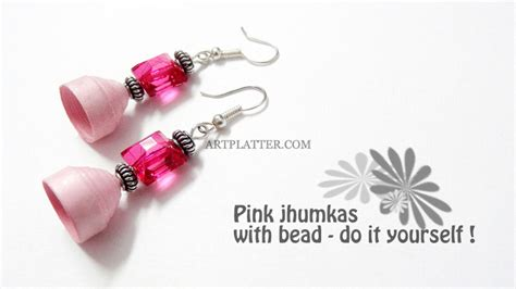 How To Make Paper Jhumkas At Home - sv arts and crafts adyar ananda