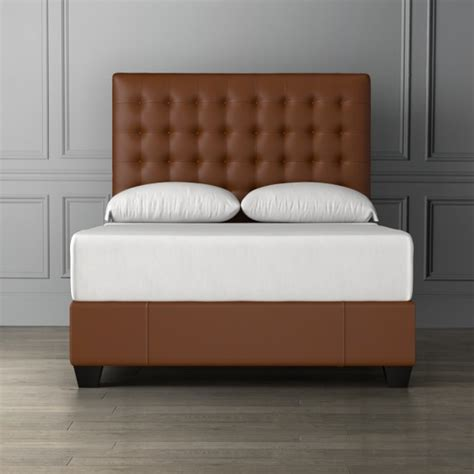 tall leather headboards fairfax tall leather bed headboard williams sonoma