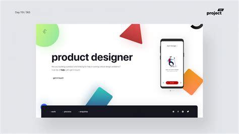 Product Design Portfolio day 120 product designer minimal portfolio project365