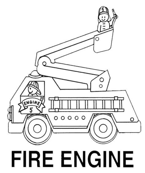 free coloring pages of fireman firetruck