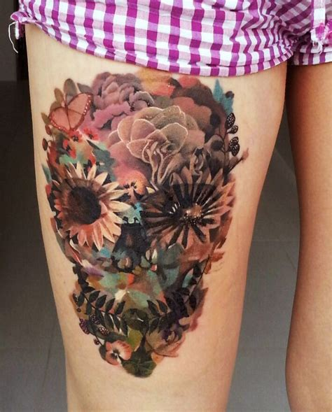 feminine flower tattoo designs best 25 feminine skull tattoos ideas on
