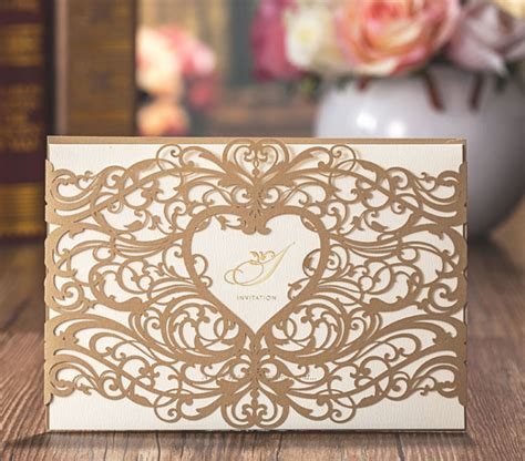 Cheap Gold Wedding Invitations by Wonderful Gold Wedding Card Popular Gold Wedding