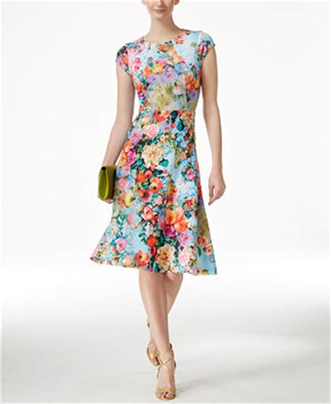 eci floral print   scuba dress dresses women macys