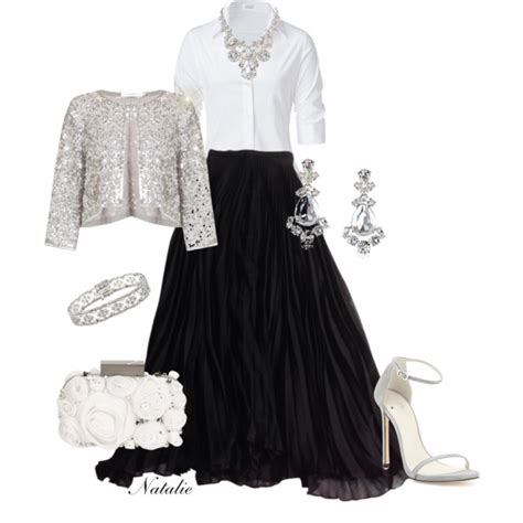 Crystal Chandelier Necklace Crisp White Blouse Formal Polyvore