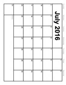 Free Printable Calendar Templates by July 2016 Calendar Printable Template 8 Templates