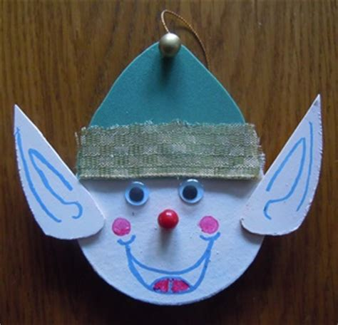 paper mache crafts elf christmas ornament