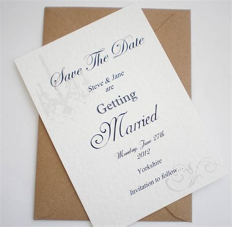 Handmade Save The Date - handmade save the date card by edgeinspired