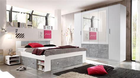 schlafzimmer stephan schlafzimmer stefan box 5 bett schrank wei 223 beton 4 teilig