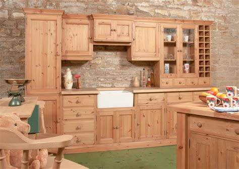 solid pine bespoke farmhouse kitchen units islands