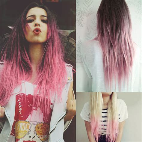 hairstyles dip dyed hair spring summer 2014 hairstyles inspirations pink dip dye