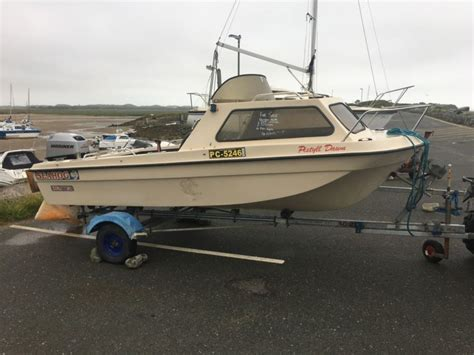 ex fishing boats for sale uk seahog hunter boat 14ft 40hp mariner ex rnli fishing for