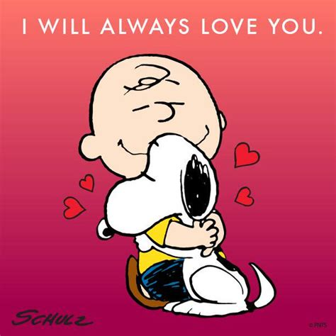 imagenes i love you forever peanuts on twitter quot i will always love you http t co