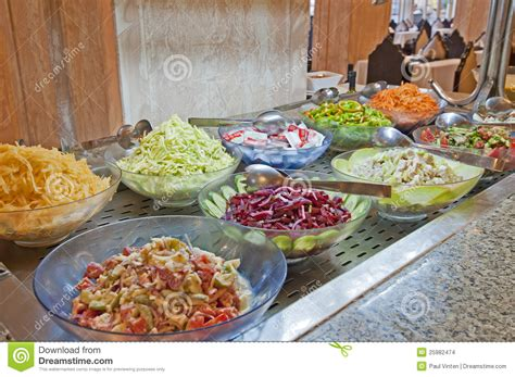 Salad Selection In A Hotel Buffet Stock Photo Image Salad Buffet Restaurants