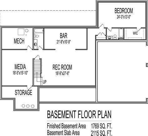 4 bedroom floor plans with basement sweet idea 4 bedroom floor plans with basement low cost