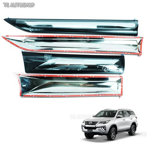 New Agya 2017 Side Molding With Colour Colour By Request fitt chrome side door cladding moulding trims guards toyota fortuner suv 2016 ebay