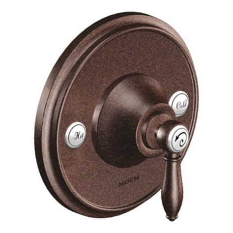 shop moen weymouth oil rubbed bronze 1 handle deck mount moen weymouth 1 handle posi temp valve trim kit in oil