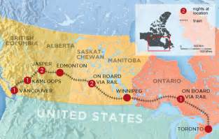 trans canada railway map trans canadian railway tour in a week canadian