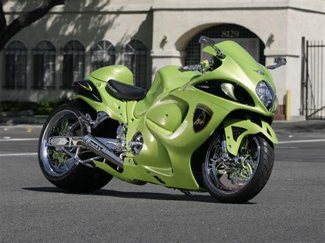 suzuki motorcycle green green hayabusa