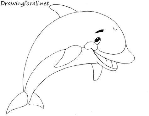 tutorial gambar lumba lumba how to draw a dolphin for kids drawingforall net